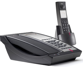 Telematrix 9600 DECT 2MWD5 cordless phone two-line 5 guest services buttons